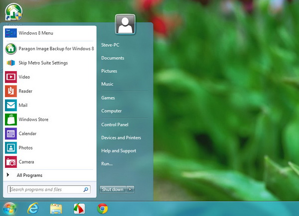 Windows 7 Style Start Menu in Windows 8