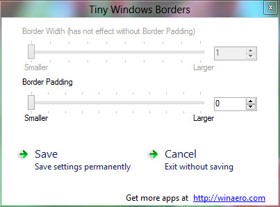 Tiny Windows Borders - Reduce Size of Windows Border in Windows 8
