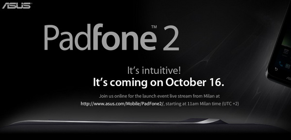 ASUS Padfone 2 Launch Event Live Streaming from Milan