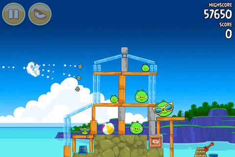 Angry Birds - Surf n Turf Levels