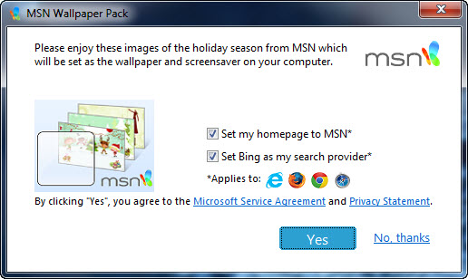 MSN Wallpaper and Screensaver Pack : 2012 Holidays