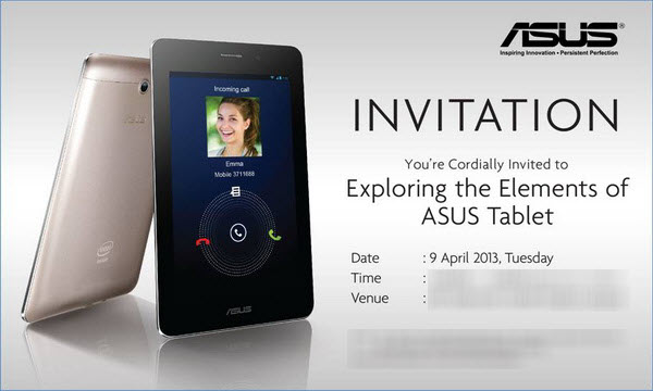 ASUS Fonepad - Malaysia Launch Event