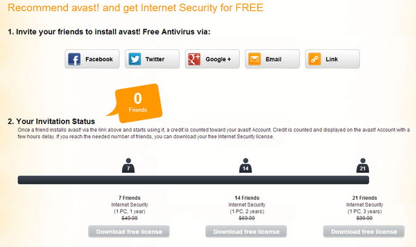 Get avast! 8 Internet Security for FREE