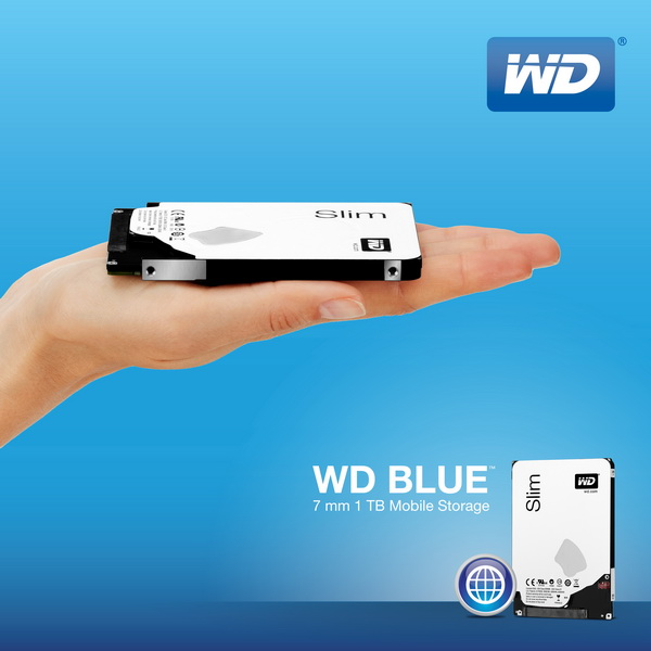 WDBlue 7mm 1TB HDD