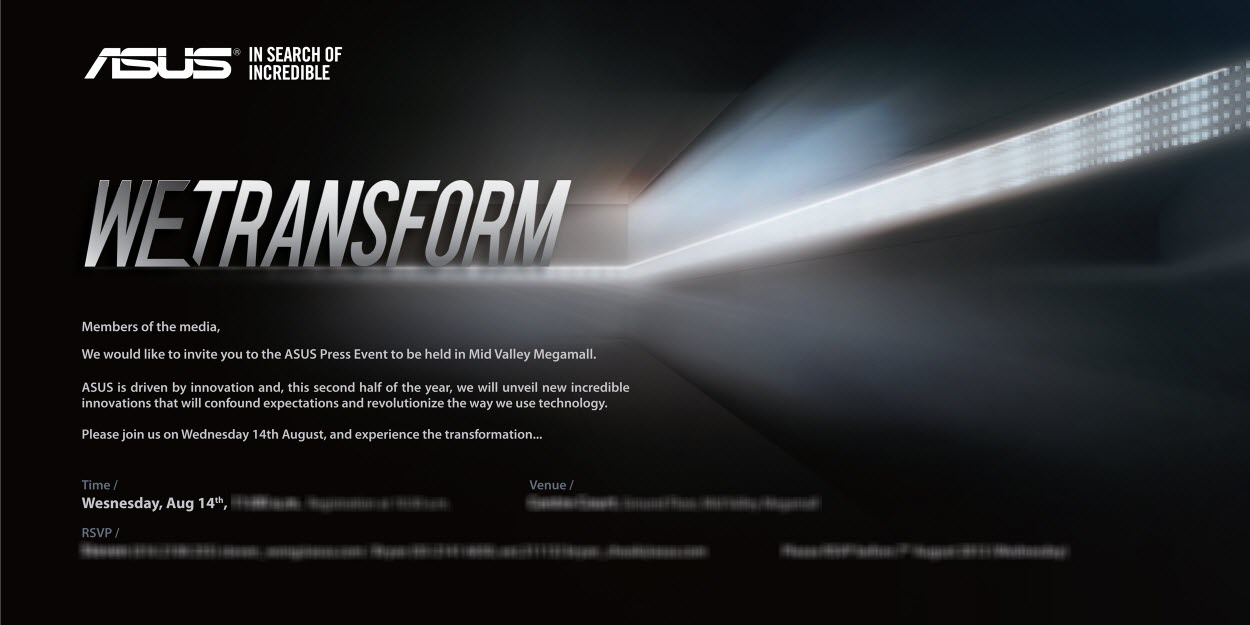ASUS Press Event August 14