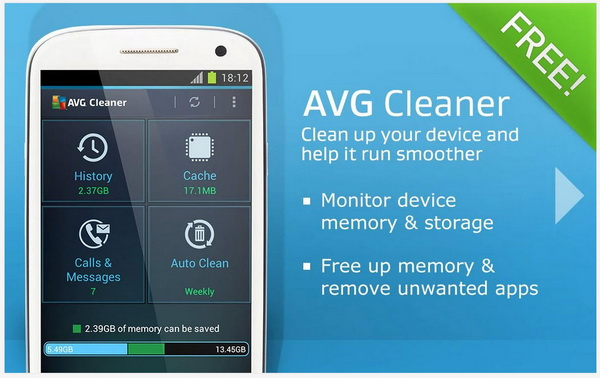 Free up cached memory and clean browser history with AVG ...