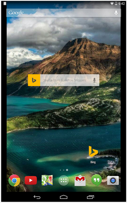 how to set bing wallpaper as lock screen on android