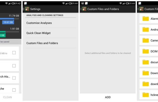 CCleaner for Android 1.05 - Custom Files and Folders Cleaning