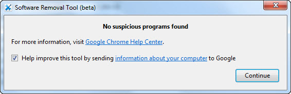 Chrome Software Removal Tool Beta