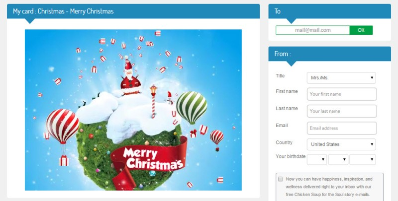 Three websites to send animated Christmas eCards for free