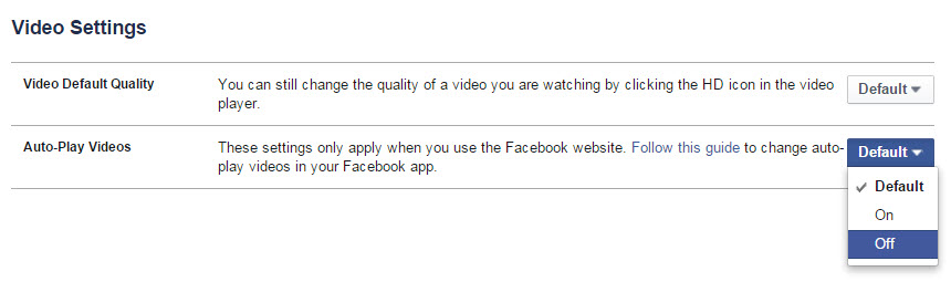 How to Disable Auto Play for Facebook Videos