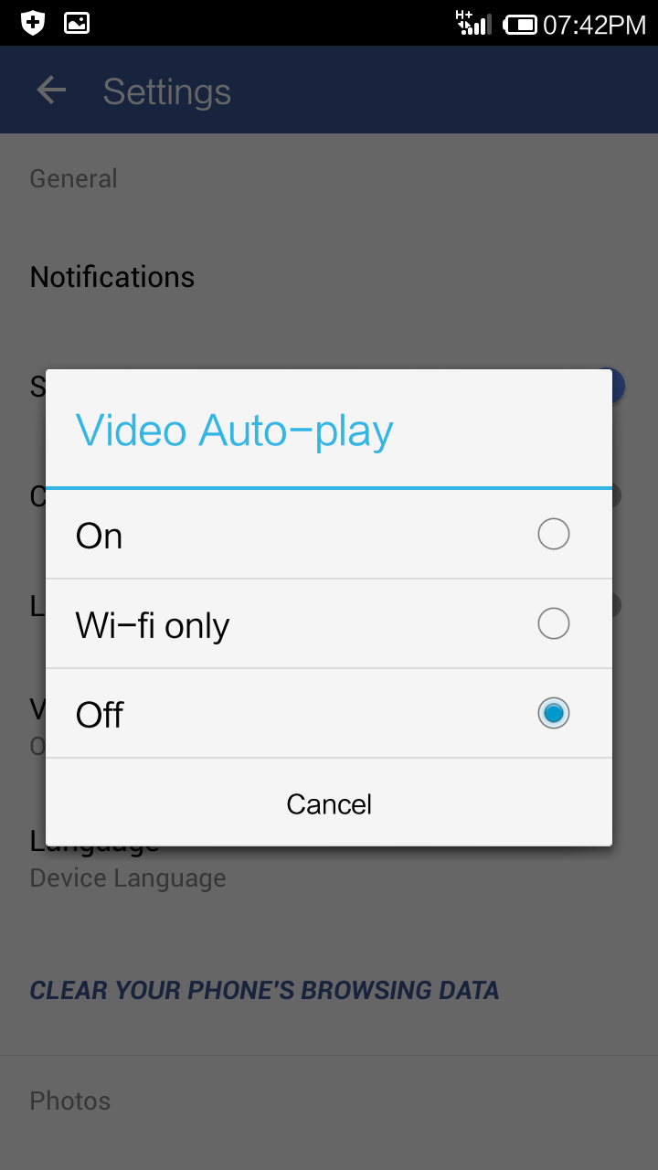 How to Disable Auto Play for Facebook Videos on Android