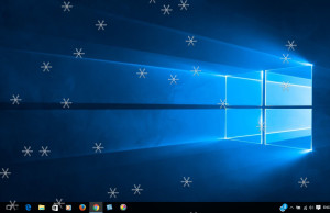 Falling Snow Effect on Windows 10