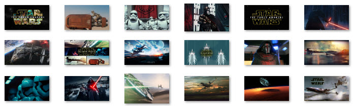 Star Wars Episode VII The Force Awakens theme pack collection