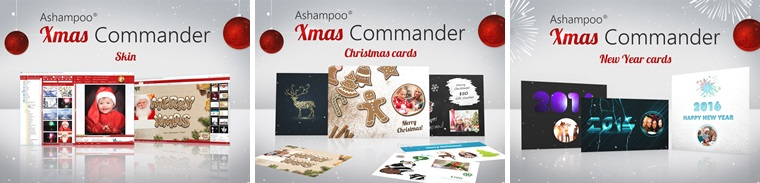Ashampoo Photo Commander 12 Xmas Edition - Christmas Skin, Christmas Cards and New Year Cards