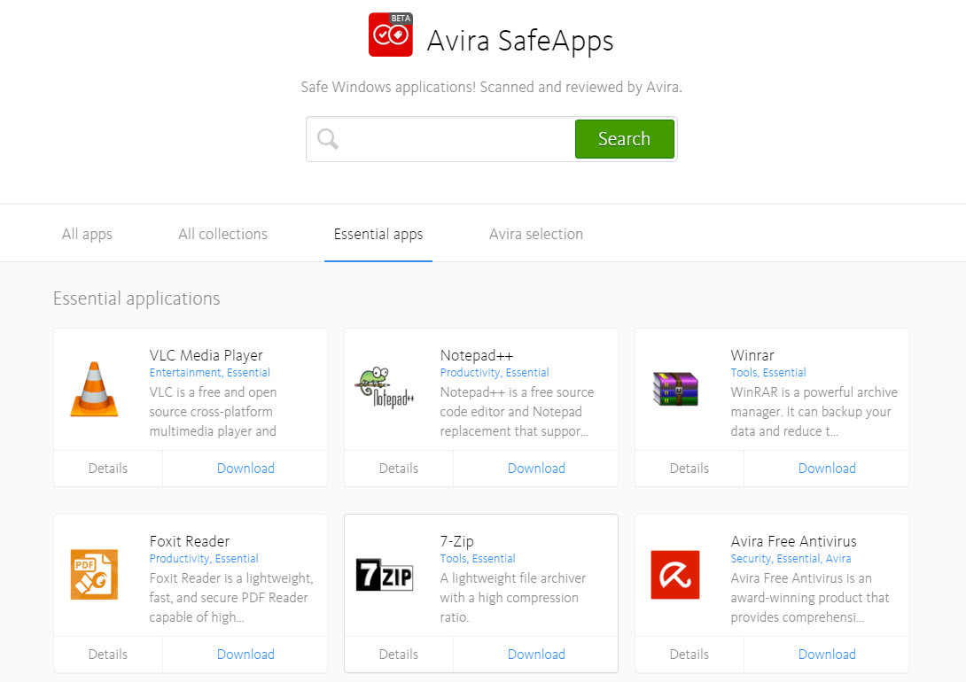 Avira SafeApps - Download Safe Windows Applications