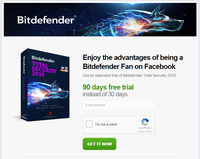 Bitdefender Total Security 2016 with 90 Days Free Trial