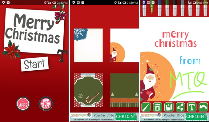 Create Christmas Cards for Android