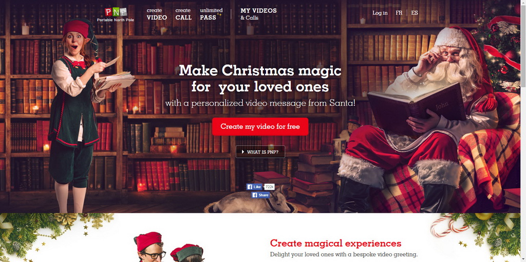 Create Personalized Santa Video Messages for free