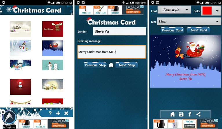 Create and Send Christmas Cards for Android