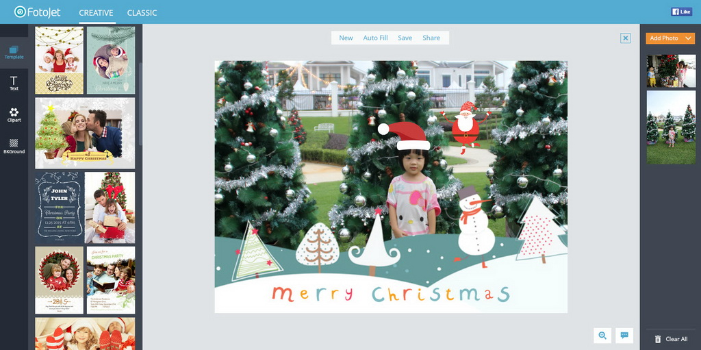 create and send free personalized christmas cards with fotojet