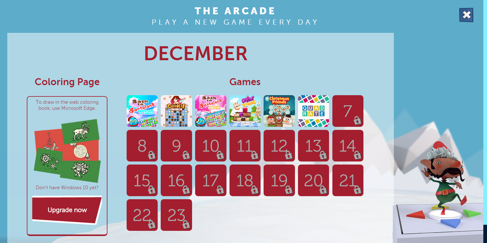 NORAD Tracks Santa 2015 - Free Mini Games