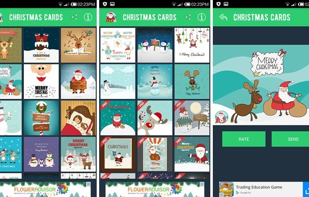 Send Christmas Cards Animation for Android