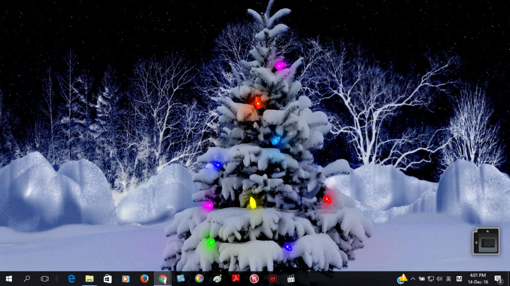 Windows 10 Christmas Theme - Christmas Tree Theme