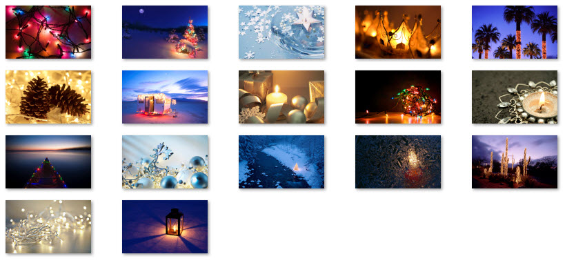 Windows 10 Christmas Theme - Holiday Lights Theme Collection