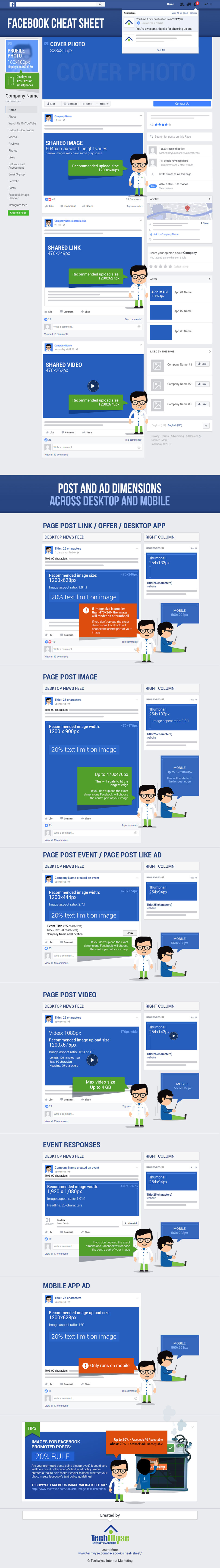 Facebook image sizes and dimensions 2017