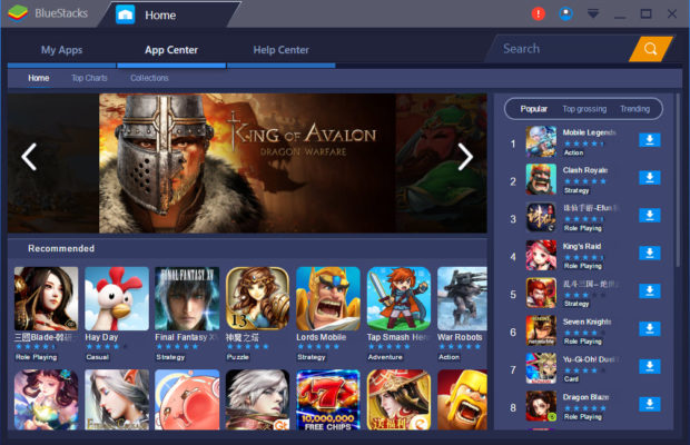 Bluestacks 3 Main Window