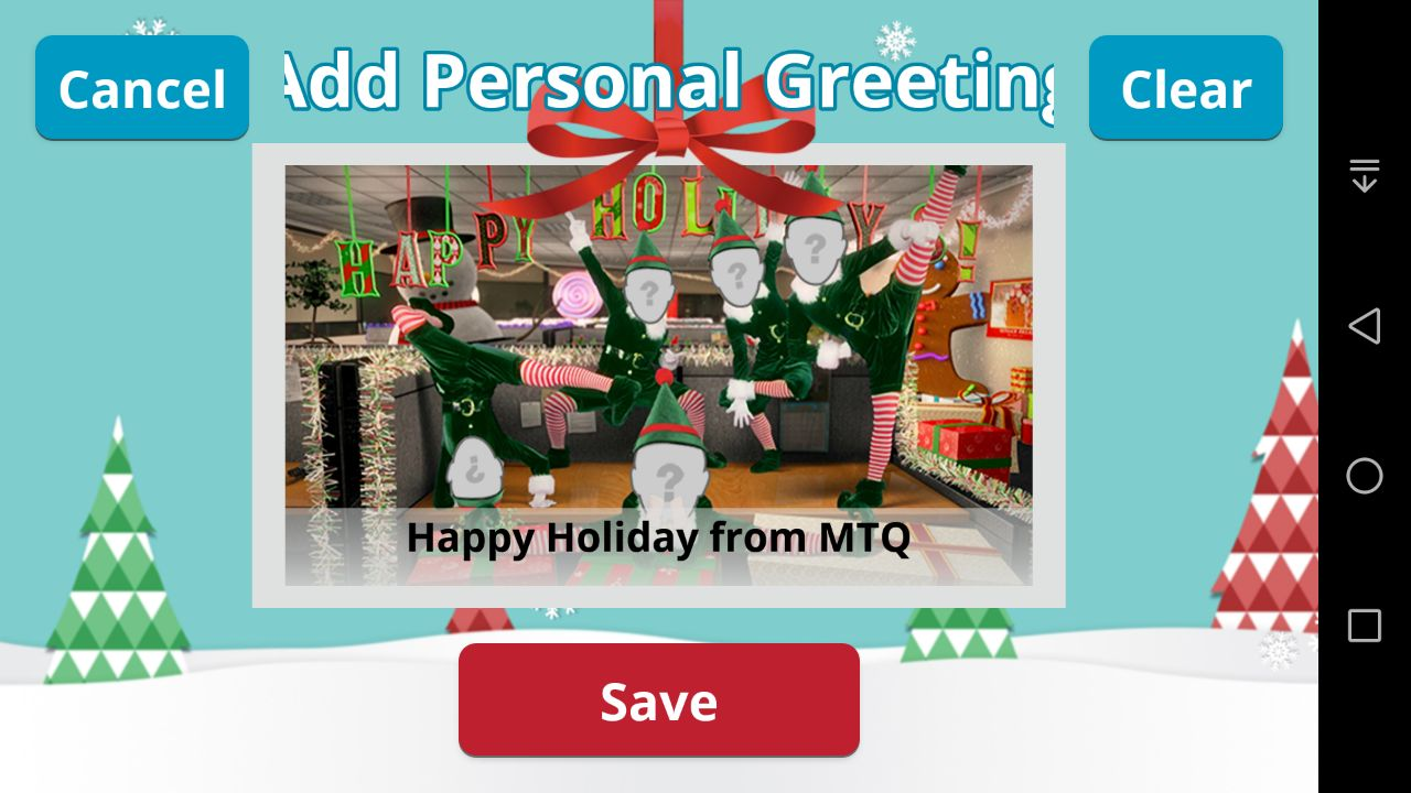 Elf Yourself Android App - Add Personal Greeting