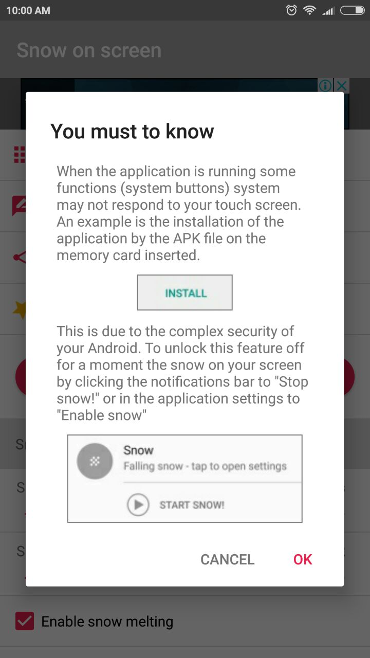 Falling Snow Effect on Android - Snow on Screen