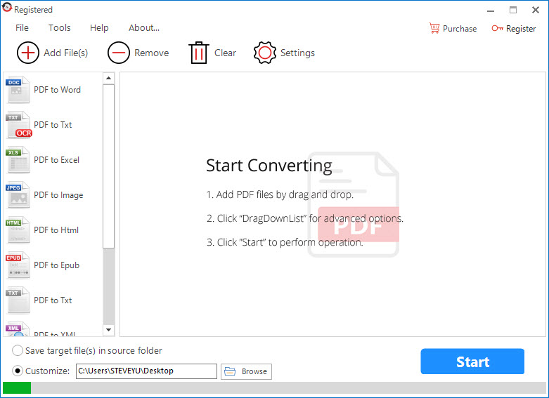 All PDF Converter Pro Review - Main Screen