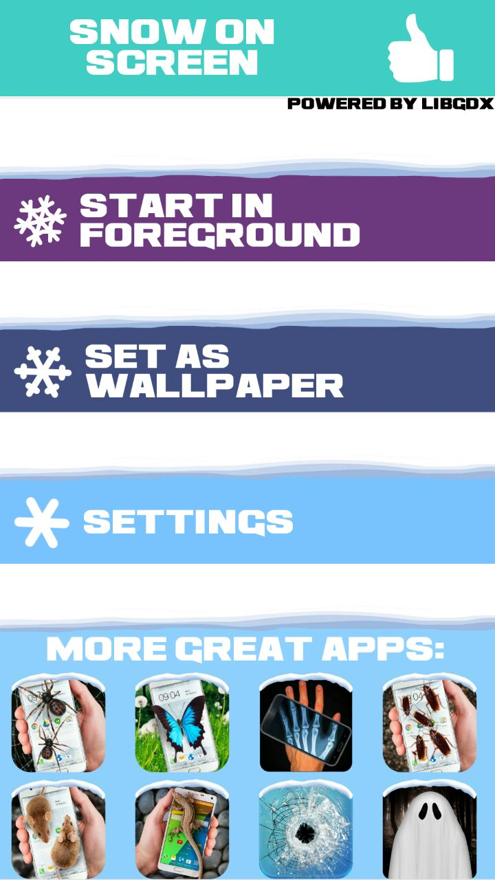 Falling Snow Effect on Android - Snow on Screen Winter Effect