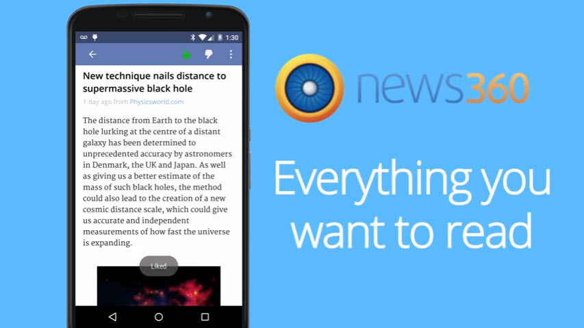 News360 News Reader App for Android