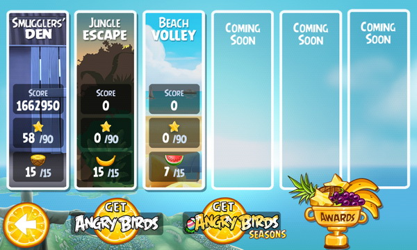 Beach Volley: New Update for Angry Birds Rio Now Available